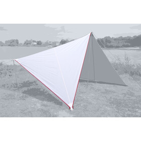 Bent Canvas Plain Tarp Pojedynczy, white/zipper red